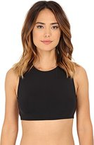 Vince Camuto Women's Polish Zipper Crop Bikini Top