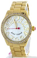 Betsey Johnson Women's BJ00290-08 Crystal Accented Gold Plated Quartz Watch