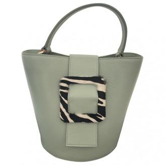 Les Petits Joueurs Green Leather Handbags