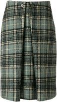 Aspesi pleated tartan skirt