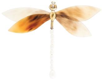 Josie Natori Dragonfly Enamel Brooch