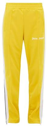Palm Angels Side-stripe Technical-jersey Track Pants - Mens - Yellow White