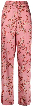 Luisa Cerano Straight-Leg Floral Trousers