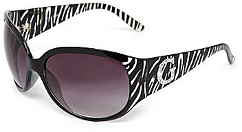 GUESS Animal Print Oversized Sunglasses