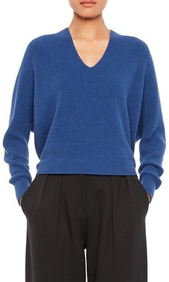 Emporio Armani V-Neck Rib-Knit Sweater
