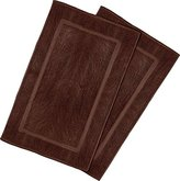 Ringspun Utopia Towels 21-Inch-by-34-Inch Cotton Washable Bath Mat, 2 Pack, Dark Brown