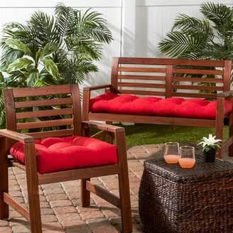 Jockey Bay Isle Home Indoor/Outdoor Sunbrella Bench Cushion Bay Isle Home Color Red
