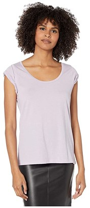 Chaser Recycled Vintage Jersey Roll Sleeve Scoop Neck Tee (Hydrangea) Women's T Shirt