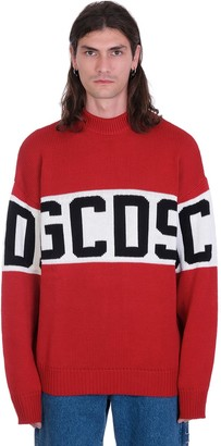 GCDS Knitwear In Red Wool