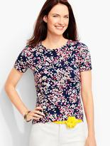 Talbots Short-Sleeve Crewneck -Dotted Flowers-The Tee