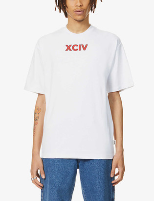 GCDS College graphic-print cotton-jersey T-shirt