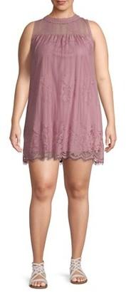 No Boundaries Juniors' Plus Size Sleeveless Lace Dress