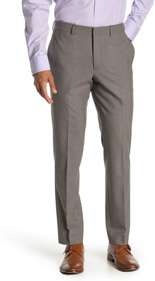 Nordstrom Slim Fit Flat Front Trousers
