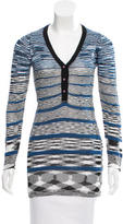 M Missoni Striped Long Sleeve Tunic
