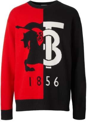 Burberry Cashmere Contrast Logo Sweater