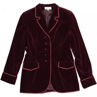 Georges Rech Burgundy Cotton Jacket for Women Vintage