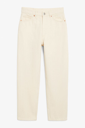 Monki Taiki off-white jeans