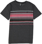 Zoo York Black Heather & Red Stripe Tee - Boys