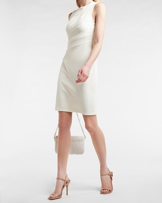 Express Pleated Shoulder Sheath Dress