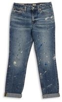 Ralph Lauren Toddler's, Little Girl's, & Girl's Distressed Splatter Jeans