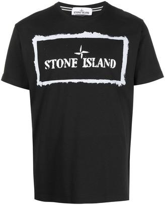 Stone Island logo-print short-sleeved T-shirt