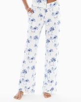 Soma Intimates Pajama Pants Vintage Palms Ivory