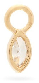 Maria Tash Diamond & 18kt Gold Charm - Yellow Gold