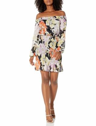 GUESS Women's Gabby 3/4 Sleeve Dress