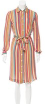 Cacharel Silk Striped Shirtdress