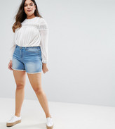 Junarose Denim Shorts With Crochet Trim