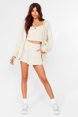 Nasty Gal Womens All Bases Covered 3-Pc Lounge Set - Beige - M/L, Beige