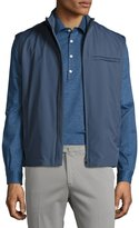 Loro Piana Southend Wind Stretch Storm System® Vest, Blue