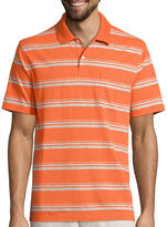 ST. JOHN'S BAY St. John's Bay Short-Sleeve Striped Jersey Pocket Polo Shirt