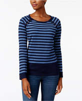Karen Scott Striped Button-Detail Sweater, Created for Macy's