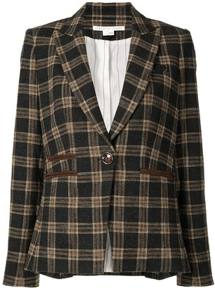 Veronica Beard Checked Tailored Blazer