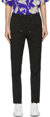 Paul Smith Black Wool Jogger Trousers