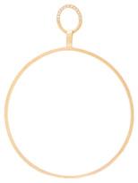 Afin Atelier Big Single Hoop Earring With Diamonds in Metallics.