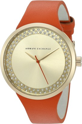 Ax Armani Exchange Armani Exchange Women's AX6012 Orange Leather Watch