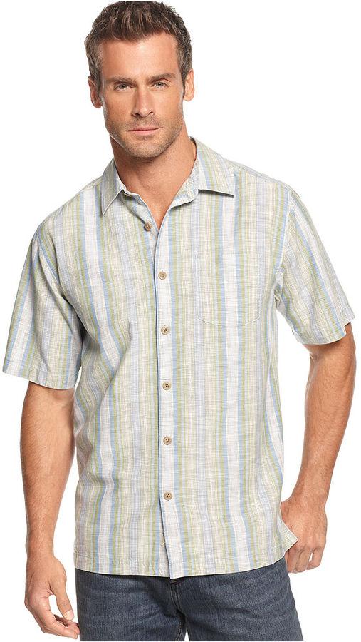 Tommy Bahama Shirt, Short Sleeve Tidal Winds Shirt