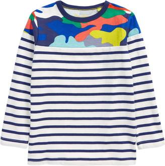 Boden Kids' Fun Breton Stripe T-Shirt