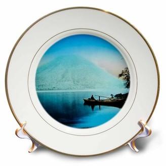 Nikko 3drose 3dRose Vintage Lake and Mountain Japan 1910 Japanese - Porcelain Plate, 8-inch