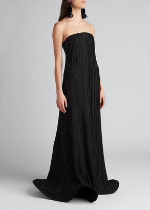 Giorgio Armani Strapless Plisse Jersey Gown