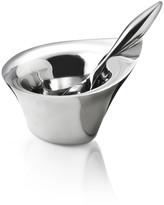 Nambe Evo Bowl & Spoon - Set of 2