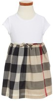 Burberry Toddler Girl's 'Mini Rosey' Check Cotton Dress