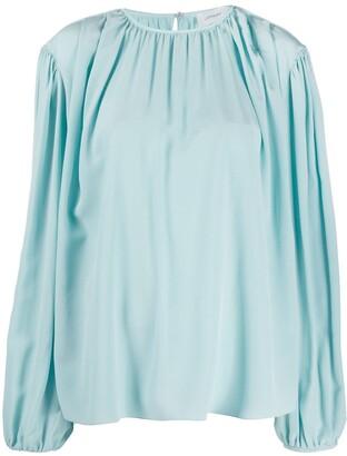 Lemaire Oberteil crepe de chine blouse