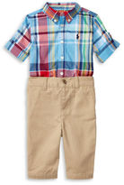 Ralph Lauren Baby Boys Two-Piece Shirt and Pants Set