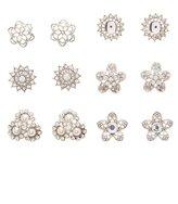 Charlotte Russe Embellished Flower Stud Earrings - 6 Pack