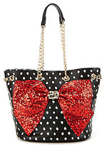 Betsey Johnson Bow-Lesque Sequined Dotted Bucket Bag