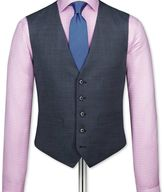 Charles Tyrwhitt Airforce blue end-on-end business suit waistcoat