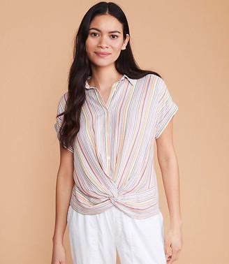 LOFT Lou & Grey Striped Twist Front Shirt